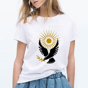 The Handmaid's Tale TV Show Peace Dove Imprimir Mujer T Shirt Casual Manga corta Tshirt Femenino O-cuello Mujer Camiseta Tops Tee Shirts