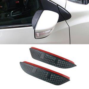 For Nissan Tiida 2005-2021 2pcs Auto Car Side Rearview Mirror Rain Visor Carbon Fiber Texture Eyebrow Sun Shade Snow Guard Cover
