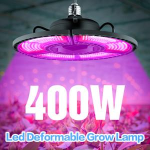 Indoor E27 Led 400W Grow Light Panel Full Spectrum Phyto Lamp For Flowers E26 Lamp For Plants Warm White Leds Fitolamp Grow Tent