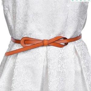 New Solid Color Shiny PU in pelle cintura in pelle per le donne strette cinghie sottili cinturini cinturini cinturini per abito per cinturino