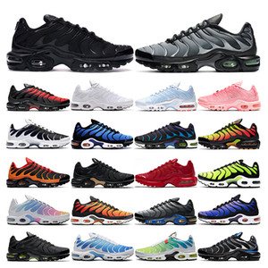2021 tn plus running shoes mens black White Volt Glow Hyper Pastel blue Oreo women Breathable sneaker trainer outdoor sport shoes size 36-46
