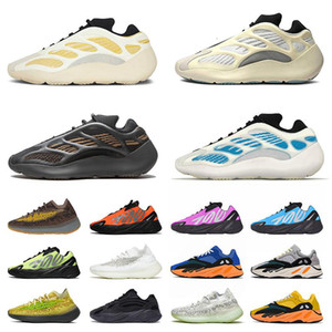 2021 Safflower Kyanite Arzareth Alvah 700 Running Shoes Bone Salt v3 Static Mauve Kanye Mens Womens Sports Sneakers Trainers Size Eur 36-46
