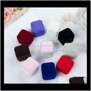 2017 Новая мода 10 цвет квадратных бархатных ювелирных изделий коробка красный гаджет коробка ожерелье кольцо серьги коробка J015 H8BBL UEMPS