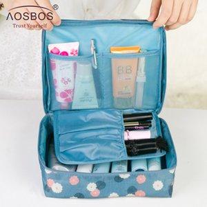 Hpb Aosbos Women Waterproof Cosmetic Makeup Bag Handbag Purse Bags Nylon Zipper Travel Wash Pouch Organizer For Toiletries Toiletry Kit Storage