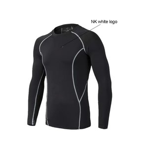 Summer thin 2021 fitness clothes sports long-sleeve T-shirt men's quick-drying breathable running basketball uniform training tshirt