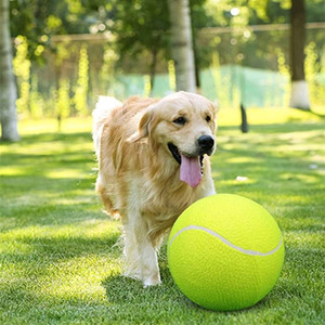 Giant Tennis Ball For Pet Chew Toy Big Inflatable Tennis Ball Signature Mega Jumbo Pet Toy Ball Supplies Outdoor Cricket 20 S2