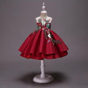Hetiso bolo tutu bordado flor crianças vestido crianças festa casamento vestidos formais para menina princesa primeiro traje de comunhão 10
