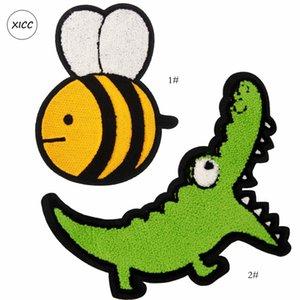 Полотенце вышивка мультфильм динозавр Chenille Badge Custom Shisting на патч супер прохладные пчелы пэчворк наклейки Applices для одежды сумка рюкзак