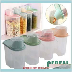 Bulk Housekeeping Organization Home & Garden4Pcs 1.9L Large Capacity Dry Food Container Durable Cereal Storage Box Kitchen Tool Scratch-Resi