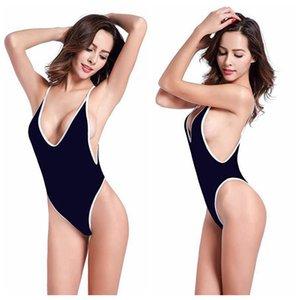 Traje de baño para mujeres Sexy Tankini Swimsuits Sports One Piece Bikini Three Point Sling v-cuello