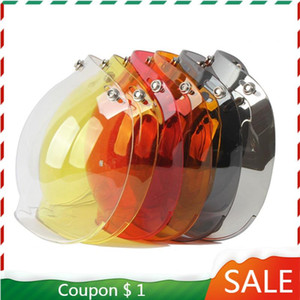 Open Face Helmet And Safety Visor Motorcycle Bubble Visor Casco Moto Lens Capacete Bubble Shield Motorcycle Helmets Accessorie