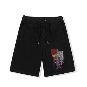 21ss hombres pantalones cortos letra bordado casual pantalones cortos verano moda pantalones cortos de la rodilla longitud todo coincidencia casual nuevo masculino shorts