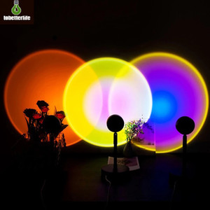 Sun Sunset Rainbow Projector Atmosphere Night Light Lamp USB Home Decoration Room Background Table Lamp