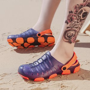 Brand Duty-free Big Size 45 Lover Clogs 3 Colors Croc Shoes Mens Band Sandals Summer Beach Water Swimming Mens