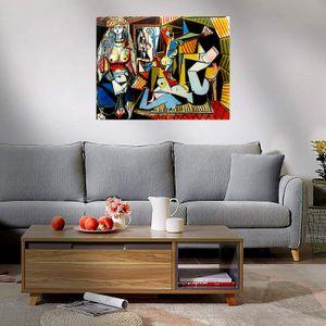 Pablo Picasso Mujeres de Argel Decoración de pared Handcrafts / HD Pintura al óleo de impresión en lienzo Arte de pared grande Imagen de lienzo 210224