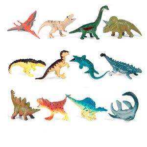 12 stücke Simulation Mini Dinosaurier Action Figuren PVC Lebensweise Bildung Kinder Kinder Wildtier Modell Spielzeug Geschenk Nette Spielzeug