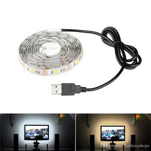 Светодиодная полоса света USB светодиод под шкаф освещения 1 м 2 м 3м SMD5730 полоса для телевизора декоративный гардеробной освещение ночной лампы