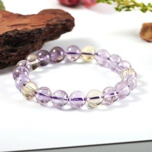 9.5-10mm Amethyst Bracelet Topaz Natural Crystal Bracelet Ladies Bracelet Gift