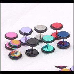 Túnel del tapón de la oreja 100pcs / lot P40 Mix 9 colores Steel Fe Steel Piercing Ear Expander Yezqe Rcruz