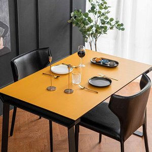 Table Cloth Leather Tablecloth Waterproof Oil-proof Nordic Mat Odorless Room Decor Aesthetic Coffee For Living