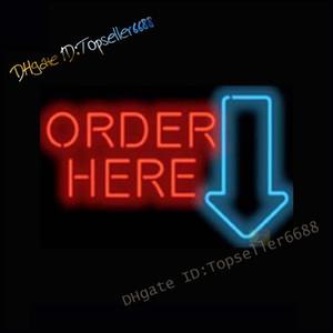 Bestellen Sie hier Kassierer Shop Dual Color Glass LED Neonzeichen Rot Blau, Glas Neon Sings Nightlight Glass Zeichen