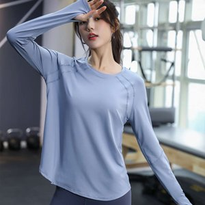 Loose Yoga top women's running blouse quick drying fitness suit slim autumn and winter sports long sleeve