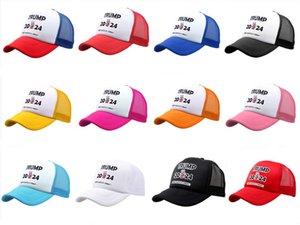 2024 Trump Baseball Cap USA Presidential Election Mesh Snapback TRMUP style Hat keep America GREAT men women Ponytail Ball Cap Free Ship