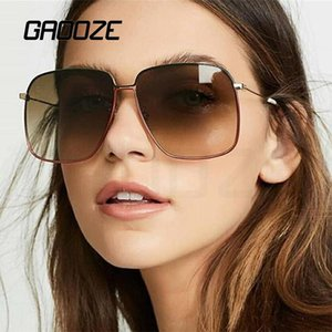 Óculos de sol Gaooze Mulheres femininas óculos para homens mulheres quadrado sol vidro vintage óculos de sol oculos lxd42