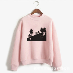 Cross border hot selling singer things Pullover round neck Street trendsetter European and American printed sweater
