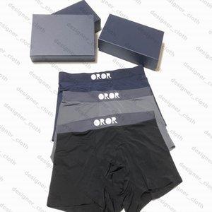 21ss Męskie Designers Bokserki Marka Market Klasyczne Mężczyźni Boxer Casual Spodenki Bielizna Oddychająca Bawełniana Bielizna 3 sztuk Z Pudełkiem