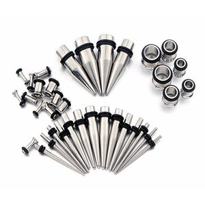 New stainless steel taper 72 piece ear expansion sleeve decorationJXMJ