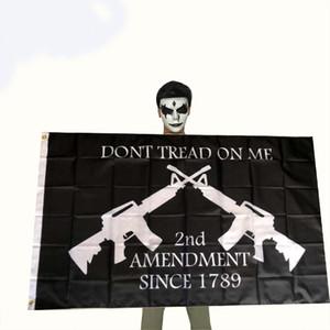 Trump Election 2024 Black Bottom Double Gun Flag 90*150cm Election 2024 Trump Flag Wholesale