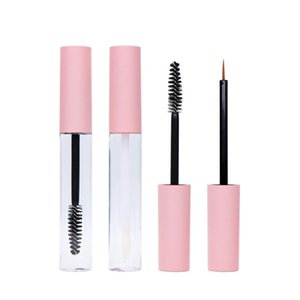 2021 10ML Empty Lip Gloss Tubes Pink Plastic Cosmetic Container Refillable DIY Mascara Eyeliner Eyelash Liquid Tube