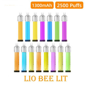 NEWEST LIO Bee LIT 2500Puffs Disposable Vapes Kit e cigarettes 1300mAh Battery 6ml Pod 100% Original Lighting Vape Device