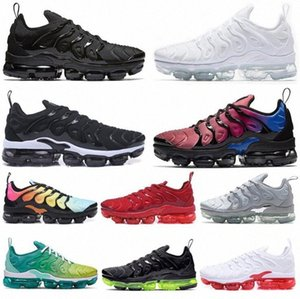 Kutu Ile En Iyi TN Artı Ultra Zebra Ayakkabı Klasik Ayakkabı TN Siyah Spor Şok Sneakers Mens Requin Zeytin Boyutu 39-4 K79E #