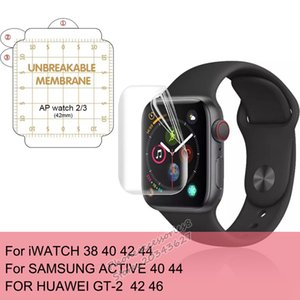 For Apple Watch 3D Full Glue Coverage Unbroken Screen Protector For iWatch Series 1 2 3 4 38 40 42 44 Samsung Active 40 44 huawei gt 2 42 46