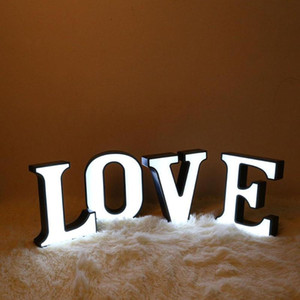 Letter LED Night Light Marquee Sign Wall Hang Club Wedding Valentine Day Gifts Environmental Protection and Energy Saving