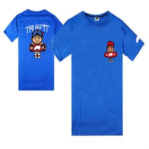 2021 Novo Trukfit American Shirt Hip Hot T-shirt de manga curta T Shirt popular manga européia vendendo preço e longa fábrica t errav