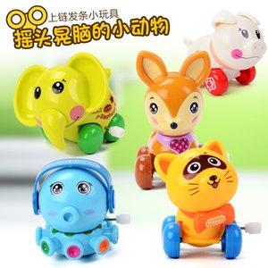 Variety of large plastic children's cartoon wind-up bucket toys, kindergarten gifts