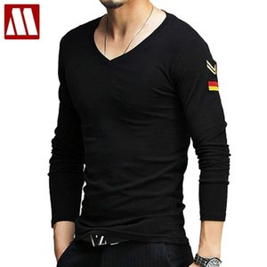 MYDBSH Brand Mens Military Shirts Summer Casual Long Sleeve Army T-shirt Cotton T Shirt Men Clothing Plus Size S-5XL Solid