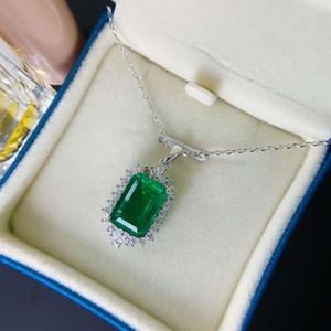 HBP Moda Shipai gioielli Nuovo Pure Silver Luxury Granny Green Diamond Pendant collana geometrica popolare