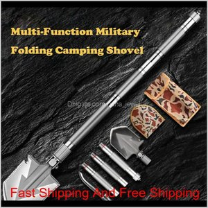 Max Length 92Cm Shovel High-Carbon Steel Shovel Outdoor Tactical Multifunctional Folding Camping Equipment Survival Tool N8Lhl 61Rhg