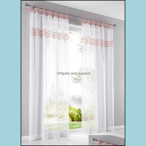 Drapes Deco El Supplies Home & Gardeneuropean Top-Grade Pervious Lace Sheer Curtains For Living Room Bedroom Modern Short Tle Curtain Kitche