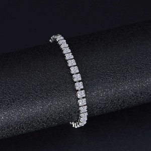 HBP fashion luxury jewelry 2021 new high carbon full bracelet NIS simulation 3 * 3mm row diamond chain