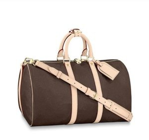 Real Leather Duffle Bag 50 55cm Luggage Handbags Shoulder Bags Handbag Womens Backpack Women Tote duffel Men Purses Mens bag Suitcases