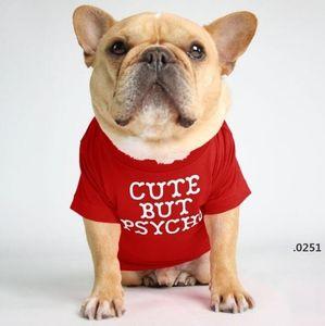 Pet Dog Clothes Puppy Cotton TurtleneckT-shirt Cat Dog Clothes T Shirt Dogs Shirt Fashion Designs Alphabet Pet Dog Clothing 12Color FWC6048