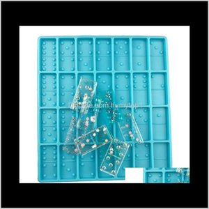 Resin Mold Domino Cavities Standard Silicone Dominoes Molds For Epoxy Domino Game For Diy Casting Jewelry Making Tool Kimter-C428Fz F7 Pcslm