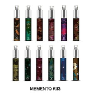 Auténtico dispositivo de vaina desechable de Memento K03 con RGB Light MementO K03 Vapor 1500 Puffs 4.8ml 850mAh Vapor Stick Pen Starter Kit
