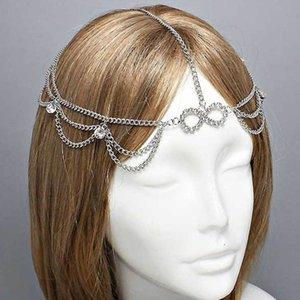 Tendência de moda coreana auspicioso diamante incrustado 8-palavra hairband novo acessórios de cabelo headband
