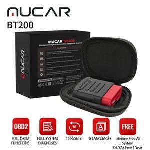 ThinkCar Mucar BT200 Auto Diagnostica Auto OBD2 Scanner Sistema completo 15 Reset 1 anno Aggiornamento dell'olio SAS